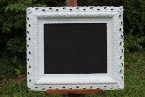 F12: White Ornate Chalkboard