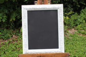 F54: White Detailed Trimmed Chalkboard