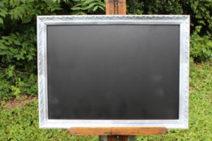 F36: Silvery White Edged Chalkboard
