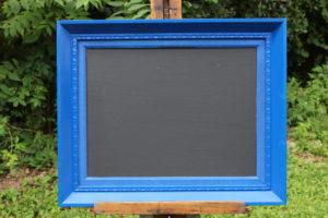 F33: Bright Blue Chalkboard