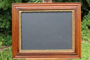 F23: Wood & Gold Trimmed Chalkboard
