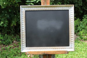 F48: Silver Dentil Edged Chalkboard