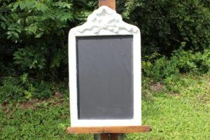 F51: White Ribbon Chalkboard