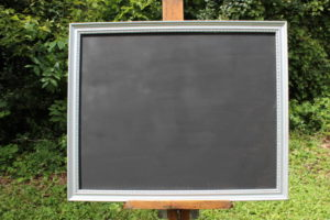 F16: Simple Edged Silver Chalkboard