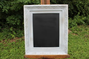 F79: White Thick Edged Chalkboard