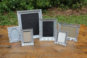 Silver Metal Detailed Trimmed Picture Frame