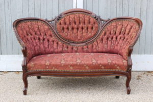 Rusty Red Victorian Sofa