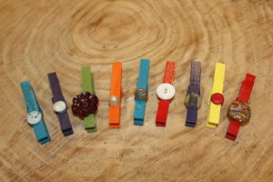 Bright Button Clothespins
