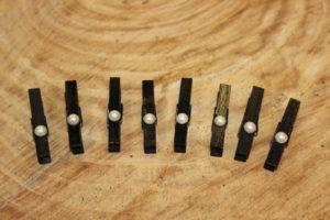 Mini Black Pearl Clothespins