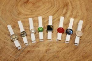 White Button Clothespins