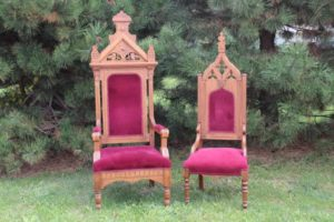 Velvet King & Queen Chairs