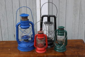 Assorted Old Lanterns - Vintique Rental WI