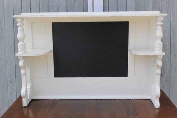 F3: White Chalkboard Shelf