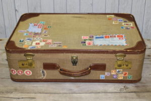 Tan Travel Suitcase