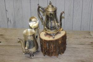 Silver Tea Pots- Vintique Rental WI