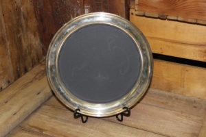 Plain Edge Chalkboard Platter