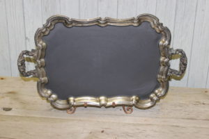 F72: Silver Footed Platter with Handles
