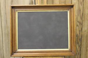 Plain Walnut & Gold Chalkboard