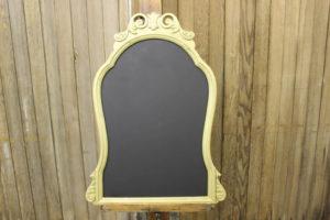 F37: Gold Scroll Chalkboard