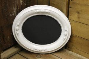 White Oval Chalkboard