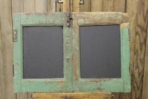 Rustic Green 2-Panel Chalkboard