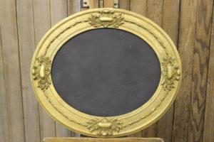 F20: Ornate Gold Oval Chalkboard