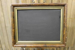 F57: Gold & Black Gesso Trimmed Chalkboard