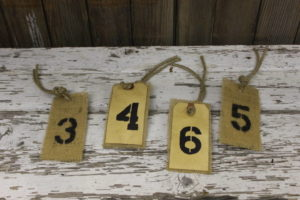 Double Sided Numbered Luggage Tags