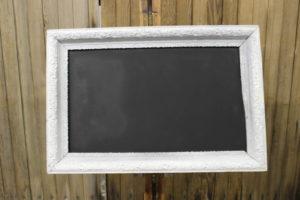 F9: White Ornate Chalkboard