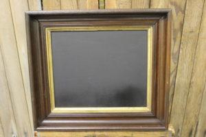 F77: Wood & Gold Gesso Chalkboard