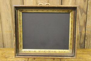 Wood & Gold Rectangular Chalkboard