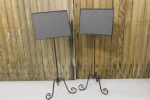 F46a&b Iron Chalkboard Stands