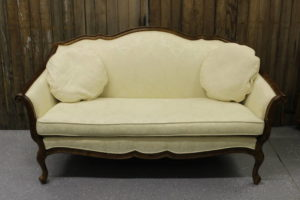 Cream Victorian Loveseat