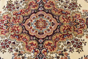 """David"" Medallion Cream Oriental Rug-L"