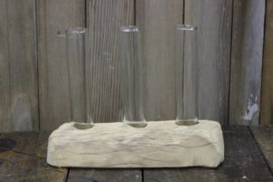 Test Tube Wood Vase