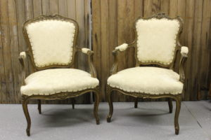Cream Parlor Chairs