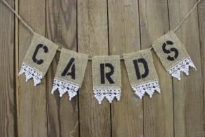 Burlap & Lace 'cards' Banner
