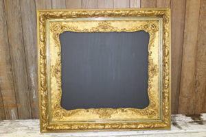 F120: Elegant Gold Chalkboard