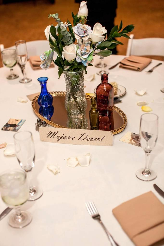 Bottle & Mirror Centerpiece