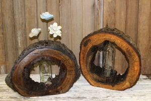 Wood Slice Vases