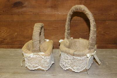 Flower Girl Baskets Vintique Rental-Wisconsin Wedding