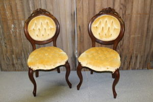 Butter Cream Velvet Chairs
