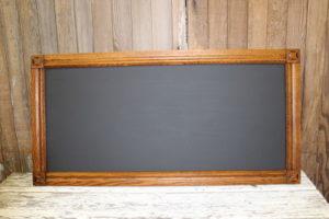 F10: Simple Oak Rectangular Chalkboard