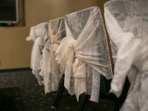 Lace Chair Backs: Photo Credit: Andrea Paradowski Photography