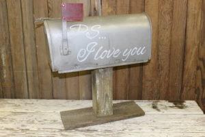 Mailbox Vintique Rental-Wisconsin Wedding