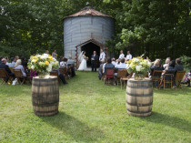 Wedding Ceremony with Barrels