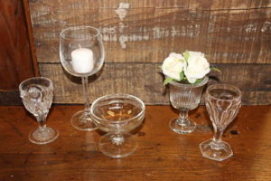 Vintique Rental-Wisconsin Wedding Assorted Small Glasses