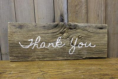 Vintique Rental-Wisconsin Wedding Thank You Sign