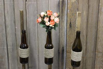 Vintique Rental-Wisconsin Wedding Aisle Bottle Displays