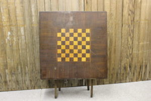 Vintique Rental-Wisconsin Wedding Checkerboard Card Table